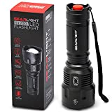 GearLight High-Powered LED Flashlight S1200 - Mid Size, Zoomable, Water Resistant, Handheld Light with 5 Modes - Best High Lumen...