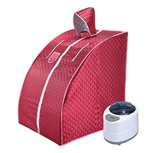 ALY Ångbastu hemmabruk bärbart spa tält, spa slappna av fördelaktig hud förlora kalorier vikt håll huden hälsosam, med stol, ånggenerator etc, A