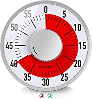 Secura 60-Minute Visual Timer 6-Inch Mechanical Countdown Timers for Teaching, Meeting, Cooking, Working - Timer for...