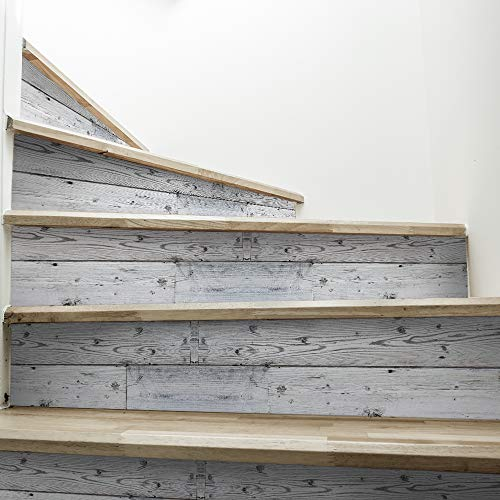 funlife Self-Adhesive Stair Sticker, Peel and Stick Staircase Decals, Self-Adhesive Waterproof Stair Riser Stickers, 7.87