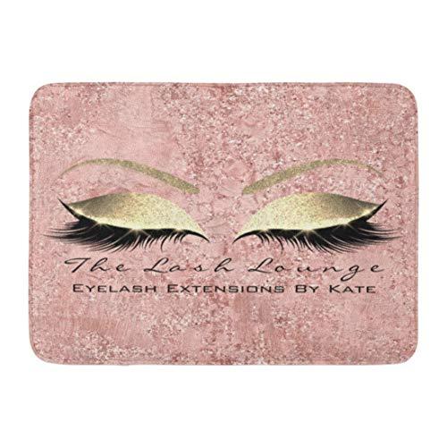 GZOSWLGS Alfombra de baño Rosa Rosa Glam Maquillaje Pestañas Belleza Hogar Baño Decoración Alfombra 16 24 Pulgadas;Pulgadas Alfombrilla de Entrada Alfombra de Piso Interior Alfombras de baño Goma