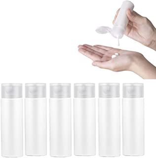 Uervoton トラベルボトル 小分けボトル 漏れ防止 TSA 出張 旅行用 シャンプー クリーム 化粧品 収納 旅行ボトル 6点セット