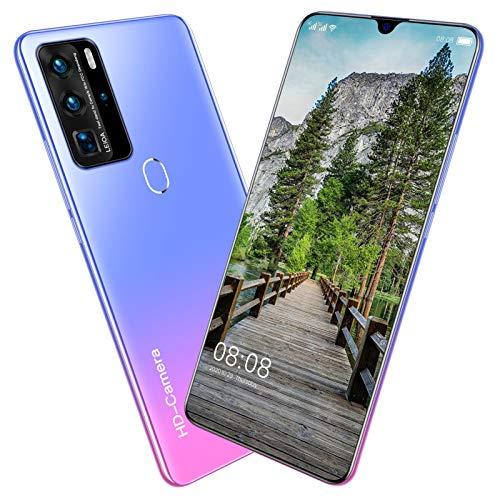 Teléfono móvil SIM gratis desbloqueado, Android 10, teléfonos inteligentes con doble SIM, pantalla de gota de rocío de 5.5 pulgadas, tres ranuras para tarjetas, cámara dual, identificación facial