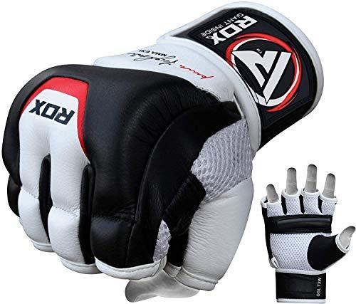 RDX All Season Grappling Glove Tgx-01 (White/Black, Large)