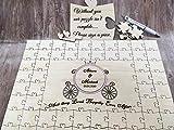 FSSS Ltd Personalised wooden cinderella carriage wedding guest book jigsaw puzzle disney (104 pieces 660x300mm (27' x 12'))