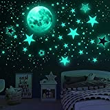 Glow in The Dark Stars for Ceiling, Airsnigi 1120PCS Adhesive Wall Stickers,Including Glow Stars and The Moon,Glowing Stars for Ceiling and Wall Decals,Perfect for Kids Bedroom and Kids Birthday Gift