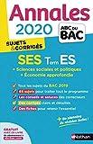 Annales ABC du Bac 2020 Sciences Economiques et Sociales - Term ES