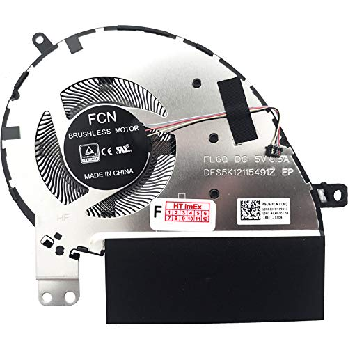 Ventilador de refrigeración compatible con Asus ZenBook 13 UX333F, 13 UX333FA, 13 UX333FN