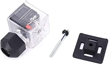 5st waterdichte magneetventielaccessoires Plug 12V/24V universele DC transparante magneetventielstekker met licht niet-kab...