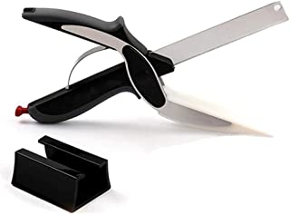 DSYJ Clever Cutter 2 en 1 cuchillo y tijeras para tabla de cortar