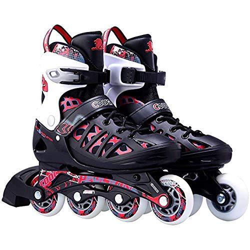 LXLTLB Inline Skates Kinder Erwachsene Inliner 4in1 | Verstellbare Schlittschuhe | Triskates Größenverstellbar ABEC7