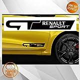 Pumpkiin Prints 2 x calcomanías de Vinilo de Estilo Deportivo Renault ZOE Megane Sport Cup GT Line (11 x 2 Pulgada)