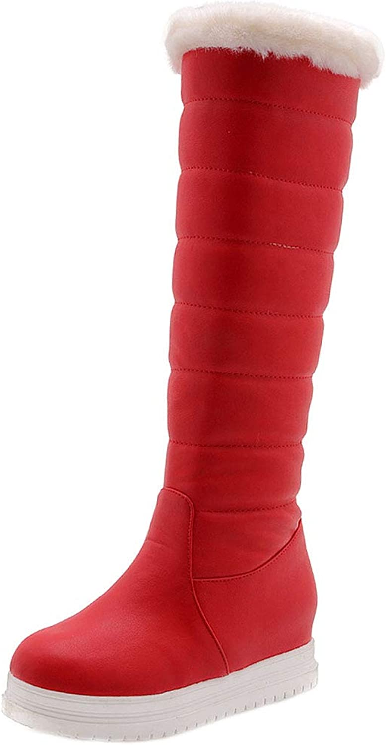 FANIMILA Knee High Snow Boots Women Warm Lining Winter Boots Pull On