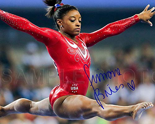 WonderClub Simone Biles Rio Olympic Gold Medal 8x10 Signed Photo Reprint [Poster]