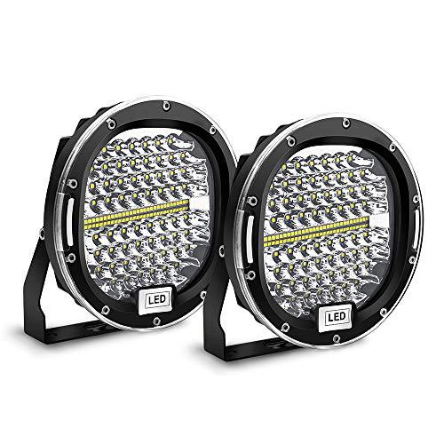 Safego Phare LED 300W 24000LM, Phare de Travail LED Imperméable IP67, Feux Additionnels Projecteur Travail LED pour Moto, Voiture, J-eep, Tracteur, Camion, SUV, Bâteau, Caravane, 2 ans de Garantie