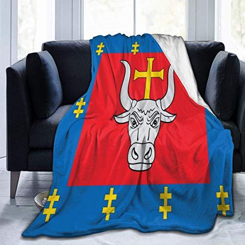 Hdadwy Throw Bourgogne franche Blanket Fit Bed Manta de Lana mullida Cozy for Travel