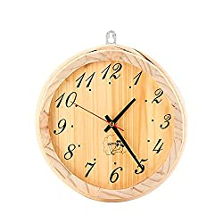 Wooden clock for the sauna - click on the picture for more information