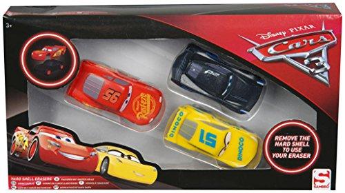 Sambro DSC8-Y17-6357 Radiergummi Mehrfarbig 3 Stück Radiergummi – Radierer zum Löschen (Mehrfarbig, Kinder, 210 mm, 40 mm, 115 mm, 126 g)