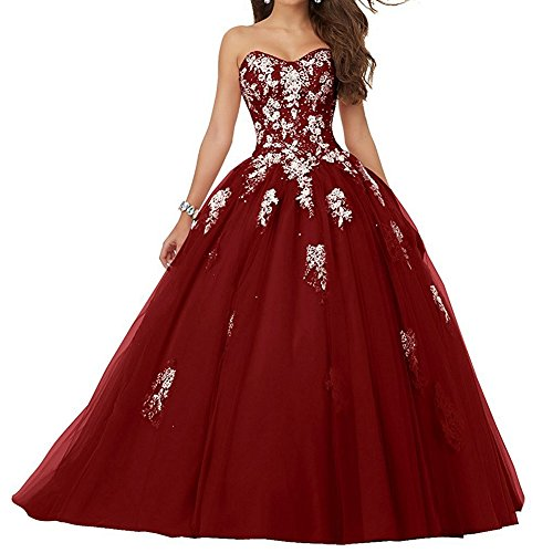 JAEDEN Vestido de Fiesta Largo Vestido de quinceañera Vestido de Noche Tul Sin Tirantes