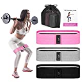 Recredo Booty Bands, 3 Resistance Bands for Legs and Butt, Non Slip Exercise Bands for Women Men,...