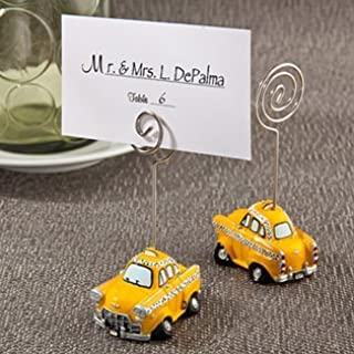 FavorOnline Yellow Taxicab Place Card Holders, 48