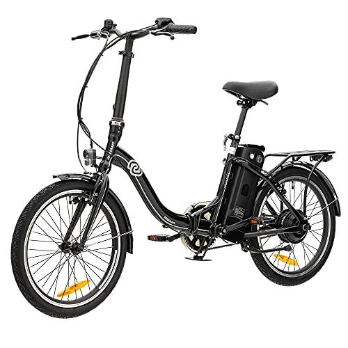 VecoCraft Nemesis Elektro Klapprad,E Bike 20 Zoll,E-Folding Bike, 36V 288WH ausziehbarer Baterrie mit Zellen von Samsung, 250W Motor, tragbares E-Bike Klapprad ebike Herren e Bike Damen, Schwarz