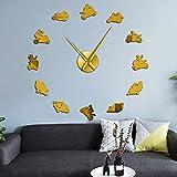 WTTA Reloj de Pared de acrílico, Reloj de Pared Grande, Motocicleta, teléfono móvil, Montar a Caballo, Espejo de acrílico 3D, Reloj de Pared, Sala de Estar Europea