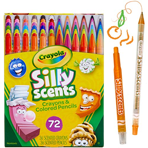 Crayola Silly Scents Twistables, Scented Crayons & Pencils, Boys & Girls Stocking Stuffers, 72 Count