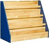 Amazon Basics Single-Sided Wooden Book Display, Blue