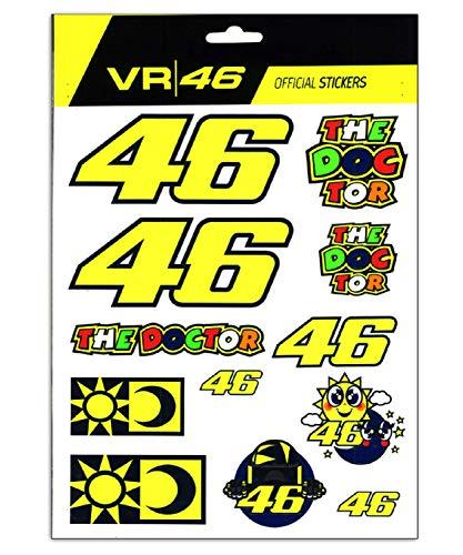 Valentino Rossi VR46 Classic-Aufkleber, Unisex, für Erwachsene, mehrfarbig, einzigartig