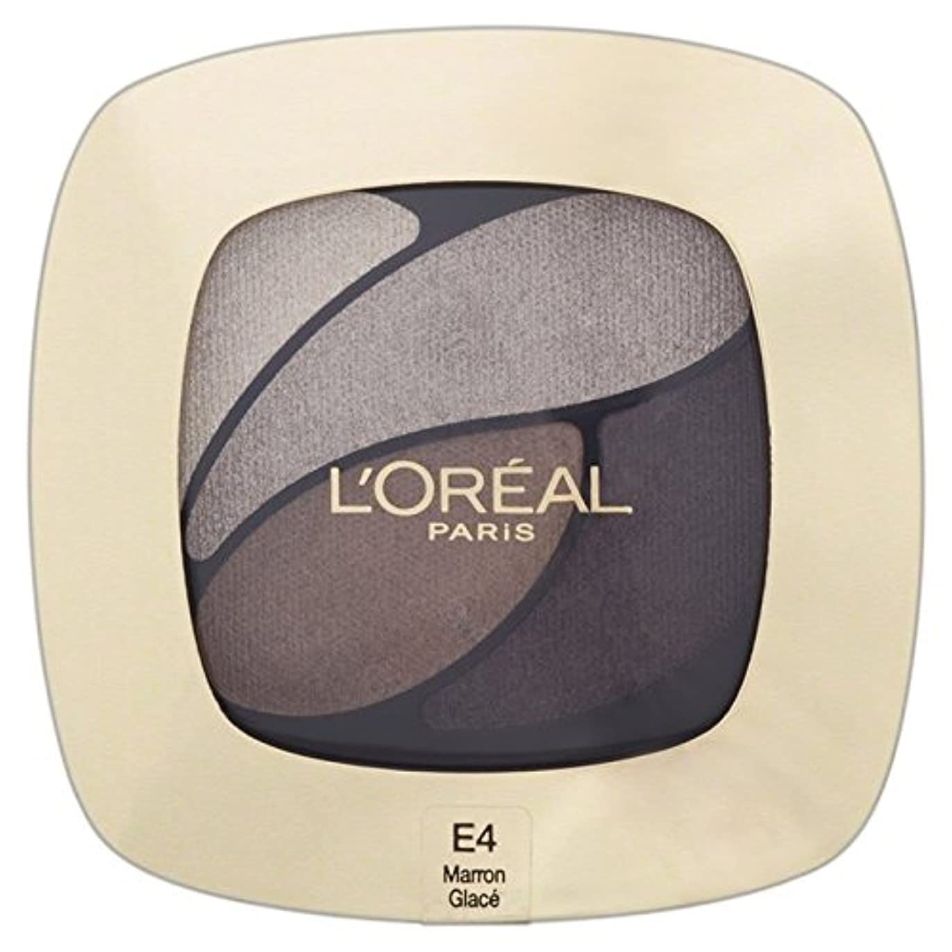 カフェ夕方分注するL'Oreal Paris Color Riche Quad, E4 Absolutely Taupe 30g (Pack of 6) - ロレアルパリのカラーリッシュクワッド、4絶対トープ30グラム x6 [並行輸入品]