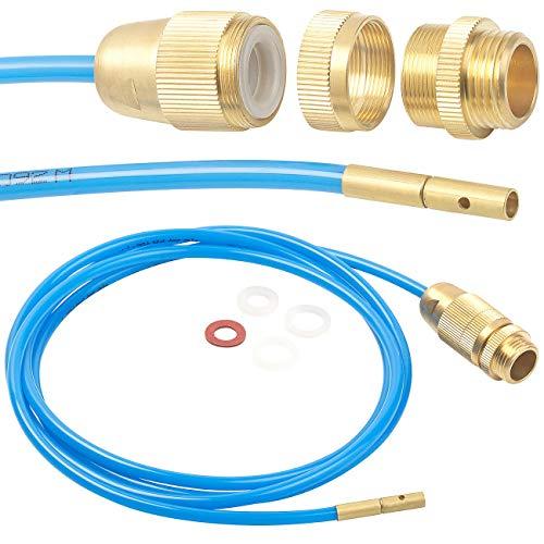 """AGT Hochdruckreiniger: Hochdruck-Abflussreiniger für M22, M24 & 1/2\"""", mit Dichtungen, 2 m (Hochdruck-Rohrreiniger Wasserhahn)"""