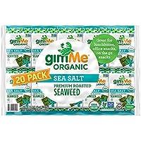 20-Pack gimMe Organic Roasted Seaweed Snacks (Sea Salt)