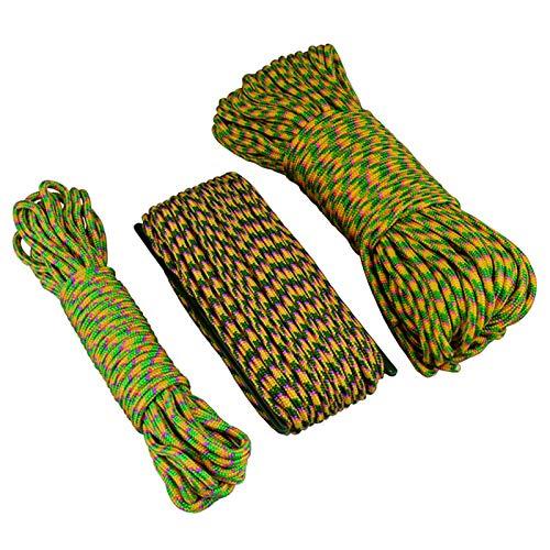 ZHANGJIAN Easy to Store Rainbow PP Universal 4mm Tendedero Rack Secado Tienda de Seguridad Cuerda 10m / 20m / 30m para Casa/Camping Save Space (Color : 20m)