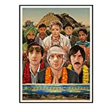 EFJPDL Wes Anderson Movie The Darjeeling Limited Art Poster Painting Prints Canvas Wall Art Pictures Bedroom Home Decor -20X28 Inch No Frame 1 Pcs