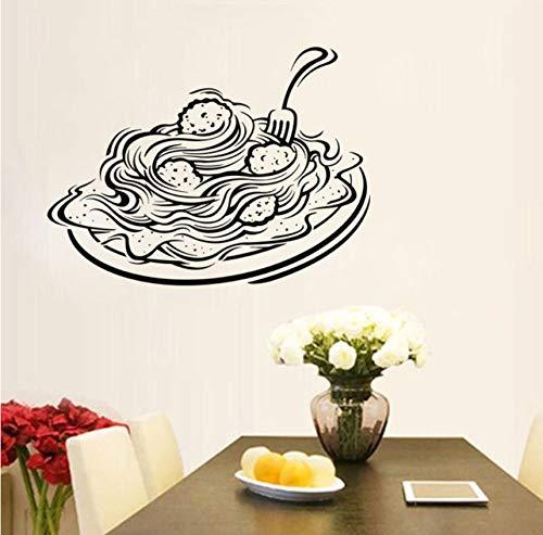 Pbbzl Italiaanse pastasticker venster voor restaurant food shop Italië zelfklevend voedselveilig pizza deeg keuken vinyl zelfklevend 42 x 57 cm