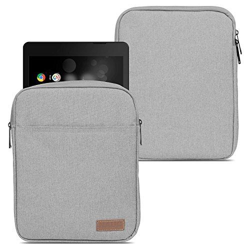 NAUC TrekStor Primetab P10 Tablet Hülle Tasche Schutzhülle Grau Sleeve Cover Hülle Bag