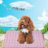 Galaxer Manta Perro Manta Refrescante Perro Seda de Hielo Manta Mascota Disipa el Calor de Tu Mascota Mantenlos Frescos en el Cálido Clima de Verano (M 63 * 50cm)