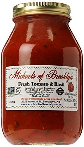 Michaels of Brooklyn Pasta Sauce, Fresh Tomato & Basil, 32 oz