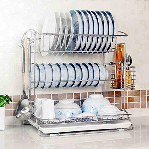 GLF 3 Tier plank multifunctionele kubus plank, afwassen roestvrij staal 41 * 31 * 43cm drie lagen van lekkende keuken gebruiksvoorwerpen