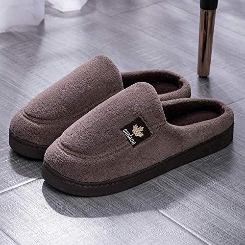 HL-TD Indoor Baumwolle Hausschuhe, Haushaltsrutschfeste Männer Und Frauen Im Winter Warme Schuhe, Baumwolle Pantoffeln Weich (Color : Camel, Size : UK9-UK9.5)