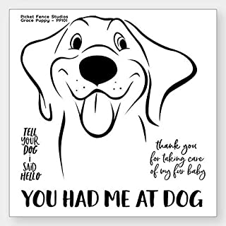 Picket Fence Studios Clear Stamp Set - Grace Puppy