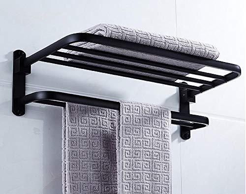 Pha-macy baño de acero inoxidable 304 montado en la pared estante de toalla estante estante de almacenamiento pulido accesorios de baño inteligentes ahorra luz y espacio duradero