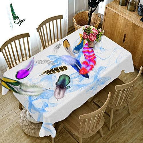 AMON LL Tafelkleed Waterdichte Stof Rechthoekig Tafelkleed, 3D Veer Patroon Tafelkleed Polyester TafelKoelkast TV Covers voor Home Party
