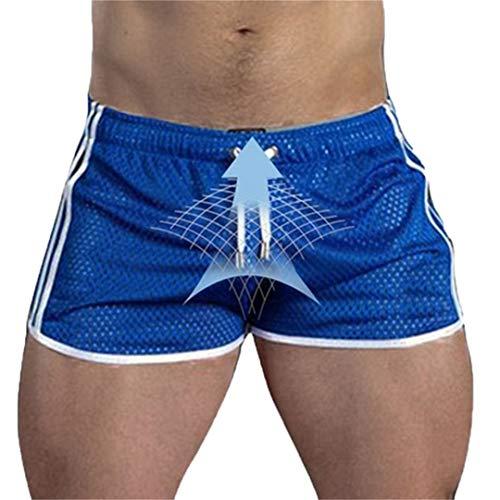 Verano Corriendo Correr Fitness Shorts Gym Hombres Pantalones Cortos Deporte Gimnasios Pantalones Cortos Blue XL