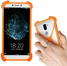 Lankashi Orange Phone Silicone Cover Case for Assurance Wireless Ans L51 Ul51 Ul50 L50 LA50 Ul40 / Ans Wiko Life C210ae / Access Wireless Treswave Tw801 / Tracfone Alcatel TCL A1 A501dl A1X A503DLPro
