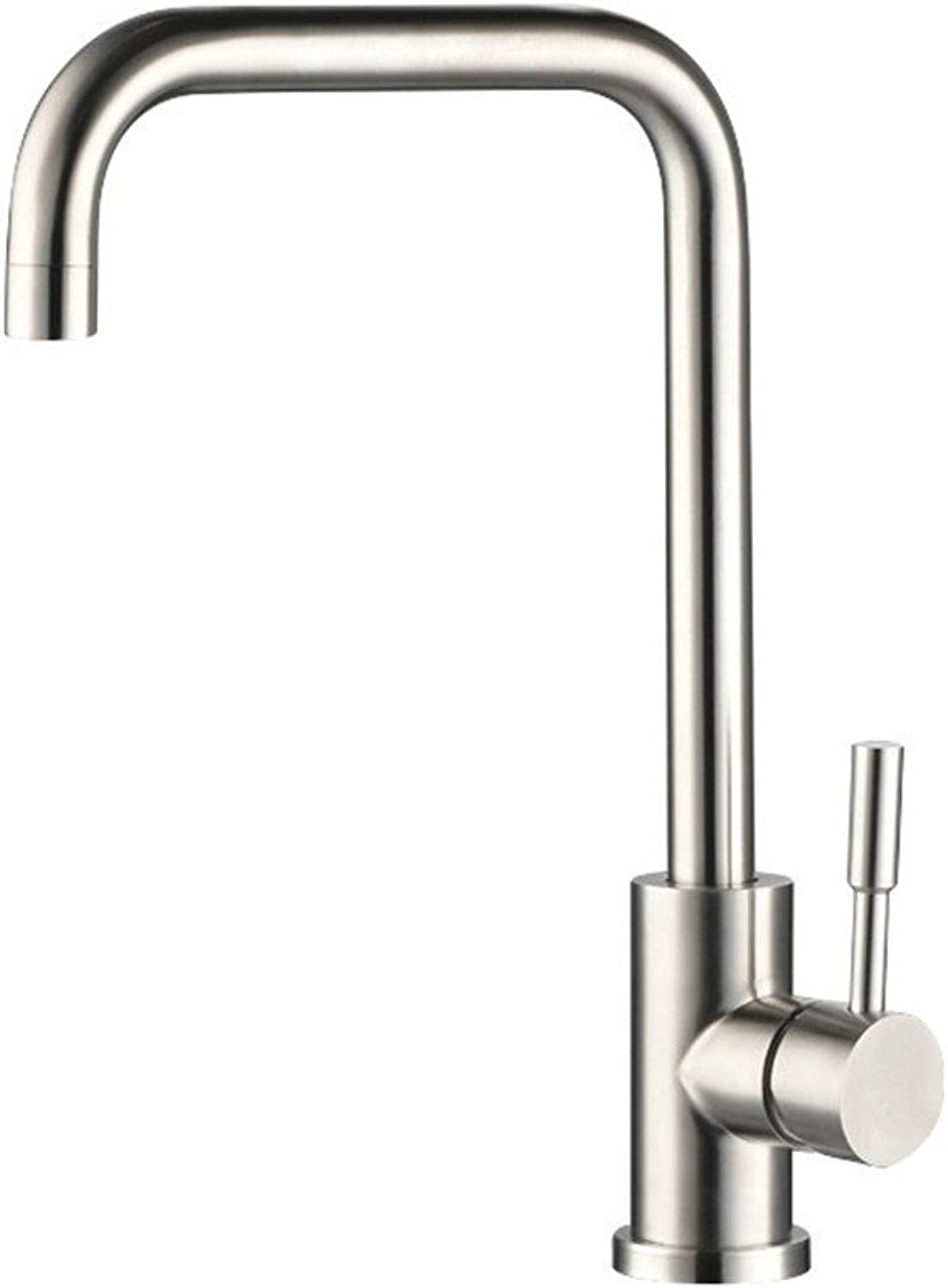 Bijjaladeva Antique Bathroom Sink Vessel Faucet Basin Mixer Tap Stainless steel kitchen faucet and cold water to wash dishes pots steel basin sink mixer water valve kit B