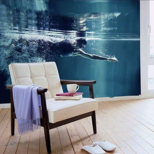 Papel fotográfico de natación Etiqueta mural Habitación infantil Papel tapiz infantil Papel tapiz para niños 450x300cm