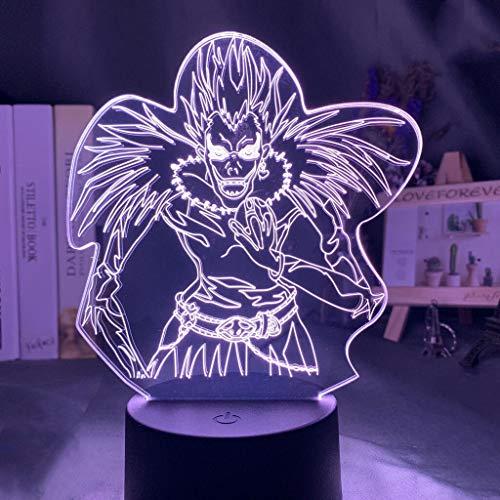 Luz de noche de personaje de manga japonés LED que cambia de color 3D lámpara de mesa decoración de la habitación regalo