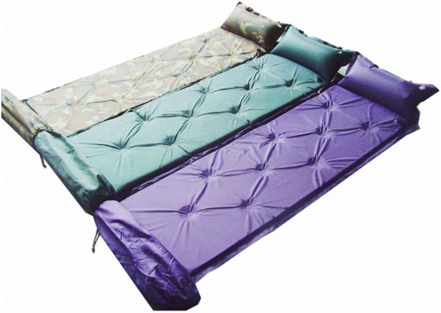 Self-Inflating Compact Foam Sleeping Bag Mat Splicing with Attached Pillow Waterproof Lightweight Inflatable Outdoor Air Cell Mattress Single Camping Pad,for Outdoor Sport and so on